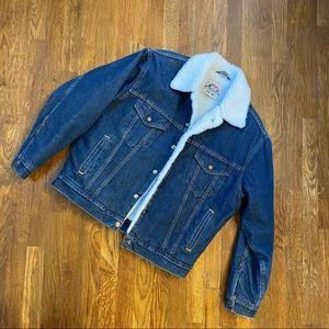 Vintage 80s Levi's Sherpa Sample Piece Jean Jacket